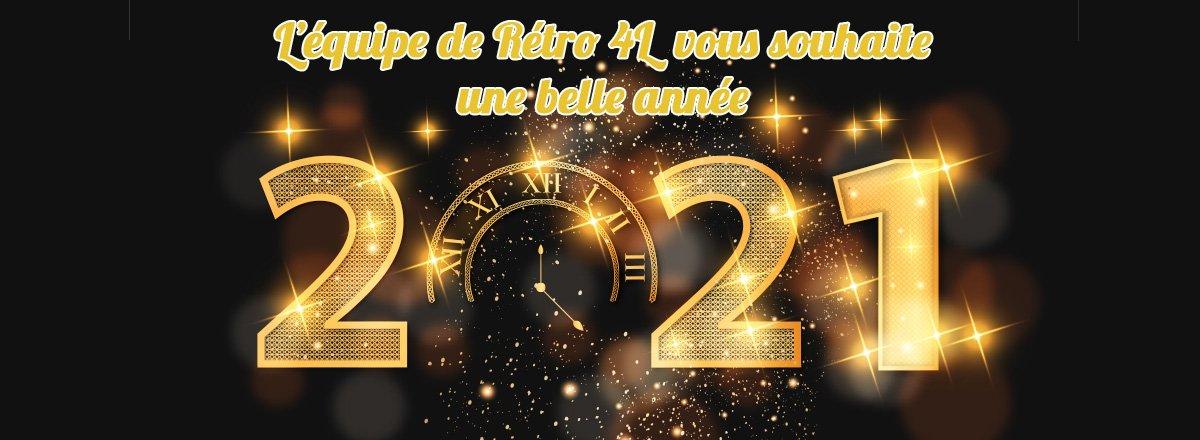 L'équipe de Retro4L vous souhaitent une bonne année 2021